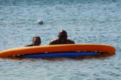 Enjoying the Caribbean Sea