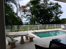 Our pool and view